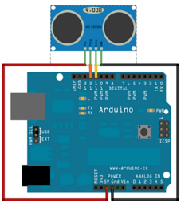 swDuino ultrasonic sensor example